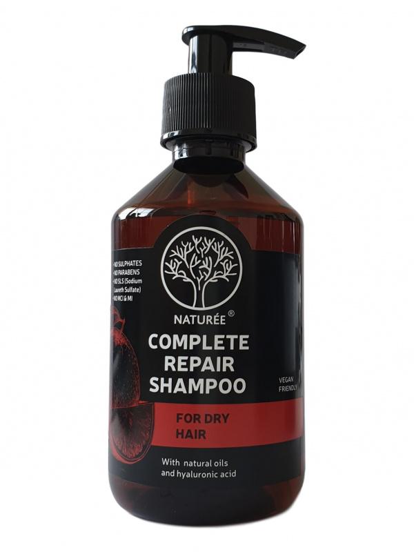 Complete repair šampūnas su natūraliais aliejais, 250ml.